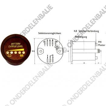 acculadingmeter multi-spanning zonder uitschak