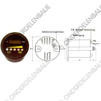 acculadingmeter multi-spanning uitschakeling urenteller