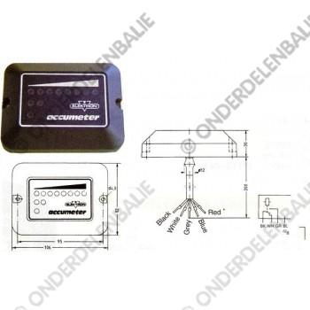 acculadingmeter 80 V met uitschakeling