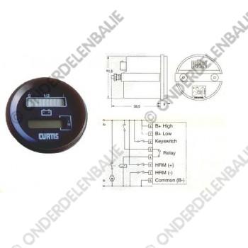 acculadingmeter 12 V uitschakeling en urenteller