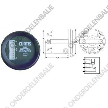acculadingmeter 80 V met uitschakeling  52 mm