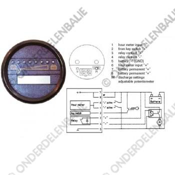 acculadingmeter 36 V uitschakeling en urenteller