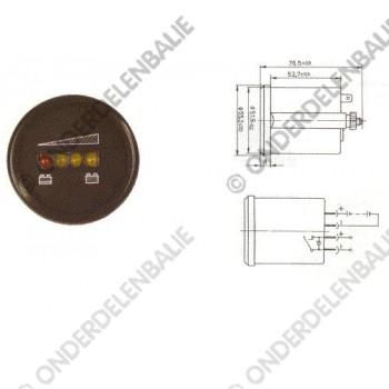 acculadingmeter 24 V met uitschakeling  52 mm