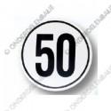 snelheidsbord 50km, folie