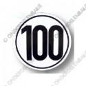 snelheidsbord 100km, folie