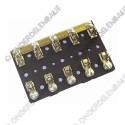 zekeringhouder voor   5x zekering 6,3 x 32mm