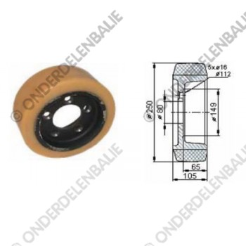 aandrijfwiel VU diam. 250 mm