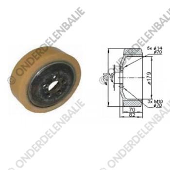 aandrijfwiel PU/Quarz diam. 230 mm