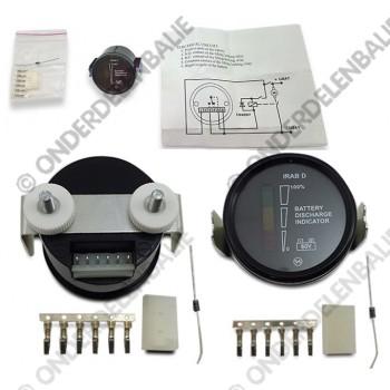 acculadingmeter 80 V met uitschakeling 52mm