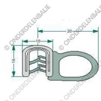 raamrubber  1-4mm