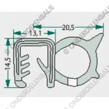 raamrubber  4-6mm (5 meter)