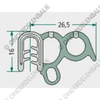 raamrubber  1,5-3,5mm