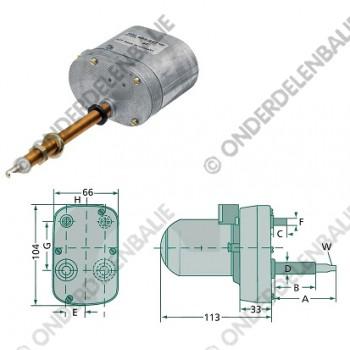 ruitenwissermotor 120gr 105-95mm