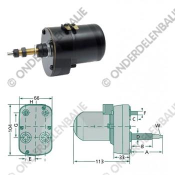 ruitenwissermotor 135gr 60-45mm