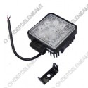 werklamp 12/24 LED vierkant